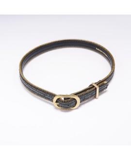 Aqua Precious Fish leather necklace